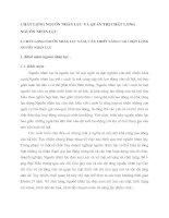 CHẤT LƯỢNG NGUỒN NHÂN LỰC VÀ QUẢN TRỊ CHẤT LƯỢNG NGUỒN NHÂN LỰC