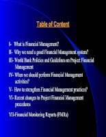 Financial Management training for client