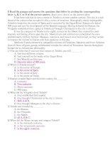 Trắc nghiệm-Tiếng Anh 10-Unit 15