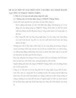 ĐỀ XUẤT MỘT SỐ GIẢI PHÁP NÂNG CAO HIỆU QUẢ KINH DOANH TẠI CÔNG TY TM