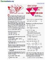 Hình thành các bất đẳng thức trong tam giác từ một bất đẳng thức cơ bản