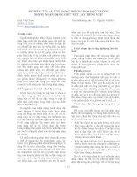 041_Nghiên cứu và ứng dụng trích chọn đặc trưng trong nhận dạng chữ viết tay tiếng Việt