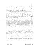 MỘT SỐ KIẾN NGHỊ NHẰM HOÀN THIỆN CÔNG TÁC KẾ TOÁN NGUYÊN VẬT LIỆU TẠI CÔNG TY CỔ PHẦN XÂY DỰNG VÀ TƯ VẤN ĐẦU TƯ TRƯỜNG THÀNH