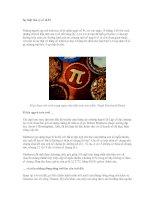 Sự thật thú vị về số Pi