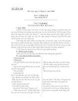 GIÁO ÁN 5 TUẦN 10: TOAN, TIẾNG VIỆT, ĐẠO ĐỨC
