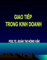 Bài giảng GIAO TIẾP TRONG KINH DOANH