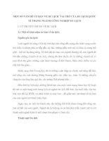 MỘT SỐ VẤN ĐỀ CƠ BẢN VỀ DU LỊCH  VAI TRÒ CỦA DU LỊCH QUỐC TẾ TRONG NGÀNH CÔNG NGHIỆP DU LỊCH