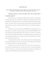 MỘT SỐ BIỆN PHÁP NHẰM HẠN CHẾ VÀ PHÒNG NGỪA RỦI RO TRONG THANH TOÁN QUỐC TẾ THEO PHƯƠNG THỨC TÍN DỤNG CHỨNG TỪ