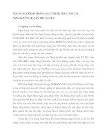 NỘI DUNG CHÍNH TRONG QUÁ TRÌNH THỰC TẬP TẠI NHNO&PTNT HUYỆN PHÚ XUYÊN