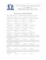 Bài tập cấu tạo nguyên tử - Định luật tuần hoàn