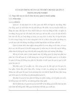 LÝ LUẬN CHUNG VỀ CƠ CẤU TỔ CHỨC BỘ MÁY QUẢN LÝ TRONG DOANH NGHIỆP