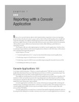 Reporting with a Console Application.