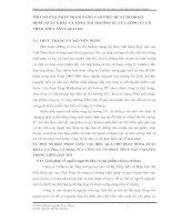 MỘT SỐ GIẢI PHÁP NHẰM NÂNG CAO HIỆU QUẢ CHO HOẠT ĐỘNG XUẤT KHẨU CÁ SANG THỊ TRƯỜNG EU CỦA CÔNG TY CỔ PHẦN THỦY SẢN CAFATEX