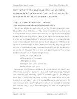 THỰC TRẠNG VỀ TÌNH HÌNH HOẠT ĐỘNG SẢN XUẤT KINH DOANH XUẤT NHẬP KHẨU CỦA CÔNG TY CỔ PHẦN SẢN XUẤT DỊCH VỤ XUẤT NHẬP KHẨU TỪ LIÊM-TULTRACO