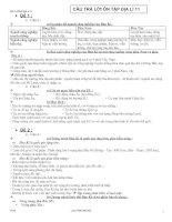 Đề cương ôn tập Địa lí 11 Cơ bản HK1