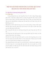 MỘT SỐ GIẢI PHÁP NHẰM NÂNG CAO HIỆU QUẢ KINH DOANH CỦA NHÀ HÀNG HOA SEN SỐ 1