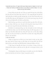 PHƯƠNG HƯỚNG VÀ MỘT SỐ GIẢI PHÁP HOÀN THIỆN CƠ SỞ VẬT CHẤT KỸ THUẬT NHẰM NÂNG CAO CHẤT LƯỢNG PHỤC VỤ TẠI KHÁCH SẠN HOÀ BÌNH