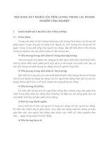 NỘI DUNG VÀ Ý NGHĨA CỦA TIỀN LƯƠNG TRONG CÁC DOANH NGHIỆP CÔNG NGHIỆP