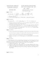 Đề và đáp án thi HSG toán 9 - Thừa thiên Huế