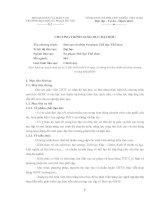 Tài liệu Chương trình Đào tạo cử nhân Sư phạm Thể dục Thể thao - ĐH Sư Phạm Hà Nội