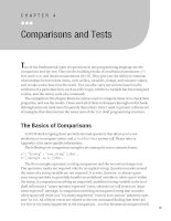 Comparisons and Tests