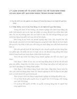 LÝ LUẬN CHUNG VỀ TỔ CHỨC CÔNG TÁC KẾ TOÁN BÁN HÀNG VÀ XÁC ĐỊNH KẾT QUẢ BÁN HÀNG TRONG DOANH NGHIỆP