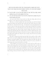 MỘT SỐ GIẢI PHÁP CHỦ YẾU NHẰM HOÀN THIỆN KẾ TOÁN THUẾ THU NHẬP DOANH NGHIỆP TRONG CÁC DOANH NGHIỆP VIỆT NAM