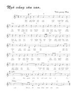Bài hát ngõ vắng xôn xao - Trần Quang Huy (lời bài hát có nốt)