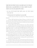 MỘT SỐ GIẢI PHÁP NÂNG CAO HIỆU QUẢ CỦA HOẠT ĐỘNG ĐÀO TẠO, BỒI DƯỠNG VÀ PHÁT TRIỂN NGUỒN NHÂN LỰC Ở CẢNG KHUYẾN LƯƠNG