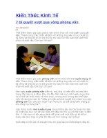 Kiến Thức Kinh Tế: 7 bí quyết vượt qua vòng phỏng vấn