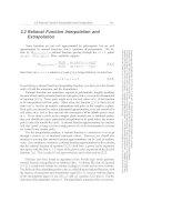 Interpolation and Extrapolation part 3
