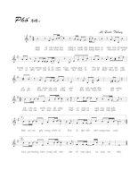 Bài hát Phố xa - Lê Quốc Thắng (lời bài hát có nốt)