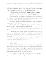 MỘT SỐ GIẢI PHÁP NÂNG CAO HIỆU QUẢ KINH DOANH TẠI CÔNG TY TNHH QUẢNG CÁO VÀ THƯƠNG MẠI THANHS