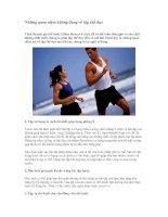 Những quan niệm không đúng về tập thể dục