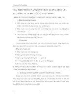 GIẢI PHÁP NHẰM NÂNG CAO CHẤT LƯỢNG DỊCH VỤ TẠI CÔNG TY TNHH TIẾP VẬN ĐẠI DƯƠNG