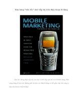 """Bán hàng """"siêu tốc"""" nhờ tiếp thị trên điện thoại di động"""