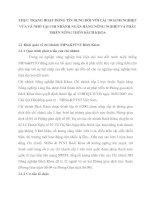 THỰC TRẠNG HOẠT ĐỘNG TÍN DỤNG ĐỐI VỚI CÁC DOANH NGHIỆP VỪA VÀ NHỎ TẠI CHI NHÁNH NGÂN HÀNG NÔNG NGHIỆP VÀ PHÁT TRIỂN NÔNG THỐN BÁCH KHOA