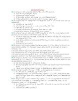BÀI TẬP SINH HỌC LỚP 11, 12
