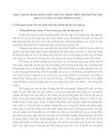 THỰC TRẠNG HOẠT ĐỘNG TIÊU THỤ SẢN PHẨM TRÊN THỊ TRƯỜNG NỘI ĐỊA CỦA CÔNG TY MAY THĂNG LONG