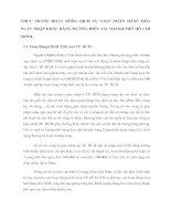 THỰC TRẠNG HOẠT ĐỘNG DỊCH VỤ GIAO NHẬN HÀNG HÓA XUẤT NHẬP KHẨU BẰNG ĐƯỜNG BIỂN TẠI THÀNH PHỐ HỒ CHÍ MINH.