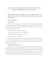 THỰC TRẠNG PHÁT TRIỂN KINH TẾ HỘ NÔNG DÂN Ở HUYỆN THANH MIỆN TỈNH HẢI DƯƠNG