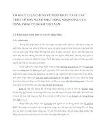 CƠ SỞ LÝ LUẬN CHUNG VỀ NHẬP KHẨU VÀ SỰ CẦN THIẾT ĐỂ ĐẨY MẠNH HOẠT ĐỘNG NHẬP KHẨU CỦA TỔNG CÔNG TY BAO BÌ VIỆT NAM