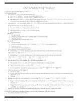 Ôn tập lý thuyết Toán 12 thi TN