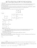 Phương pháp giải bài tập về chuyển động của thấu kính
