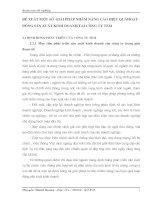 ĐỀ XUẤT MỘT SỐ  GIẢI PHÁP NHẰM NÂNG CAO HIỆU QUẢHOẠT ĐỘNG SẢN XUẤT KINH DOANH TẠI CÔNG TY TEM