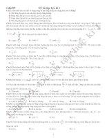 Đề ôn tập vật lý 12CB(HK1)