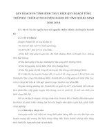 QUY HOẠCH VÀ TÌNH HÌNH THỰC HIỆN QUY HOẠCH TỔNG THỂ PHÁT TRIỂN KTXH HUYỆN HOÀNH BỒ TỈNH QUẢNG NINH 20012010