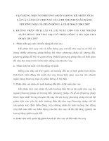 VẬN DỤNG MỘT SỐ PHƯƠNG PHÁP THỐNG KÊ PHÂN TÍCH LÃI VÀ LÃI SUẤT CHO VAY CỦA CHI NHÁNH NGÂN HÀNG THƯƠNG MẠI CỔ PHẦN ĐÔNG Á GIAI ĐOẠN 2001 2007