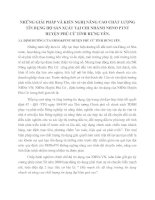 NHỮNG GIẢI PHÁP VÀ KIẾN NGHỊ NÂNG CAO CHẤT LƯỢNG TÍN DỤNG HỘ SẢN XUẤT TẠI CHI NHÁNH NHNO PTNT HUYỆN PHÙ CỪ TỈNH HƯNG YÊN