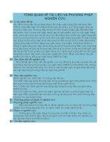 TỔNG QUAN VỀ TÀI LIỆU VÀ PHƯƠNG PHÁP NGHIÊN CỨU